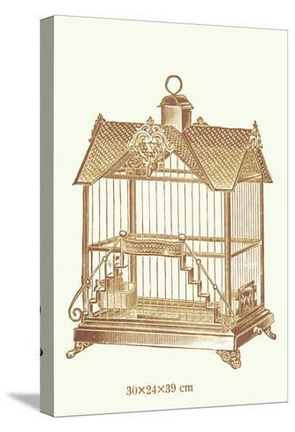 Ornate Brown Bird Cage F--Stretched Canvas Print