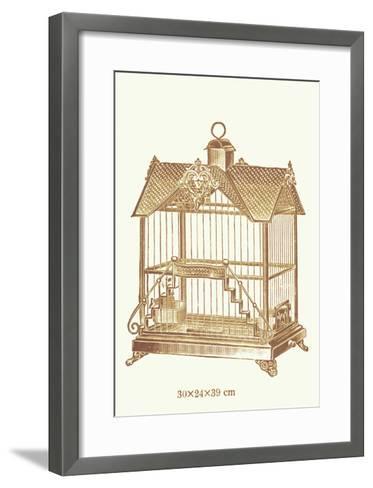 Ornate Brown Bird Cage F--Framed Art Print
