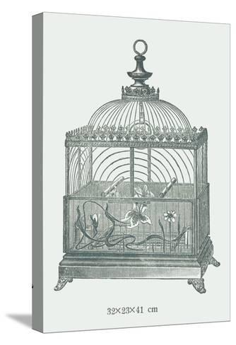 Ornate Green Bird Cage C--Stretched Canvas Print