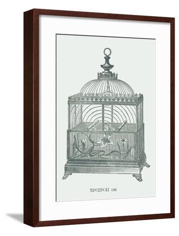 Ornate Green Bird Cage C--Framed Art Print