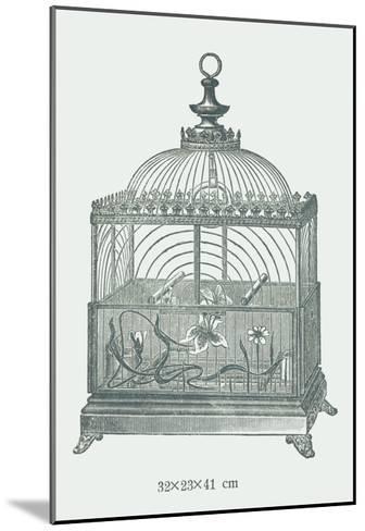 Ornate Green Bird Cage C--Mounted Art Print