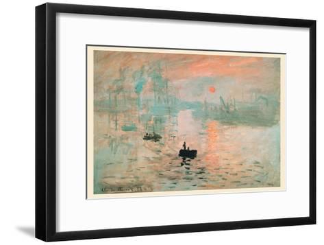 Impression Sunrise-Claude Monet-Framed Art Print