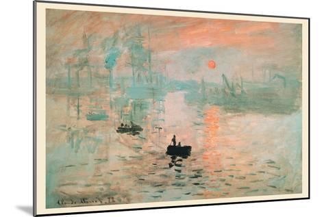 Impression Sunrise-Claude Monet-Mounted Art Print