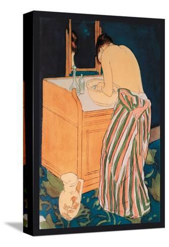 Woman Bathing-Mary Cassatt-Stretched Canvas Print