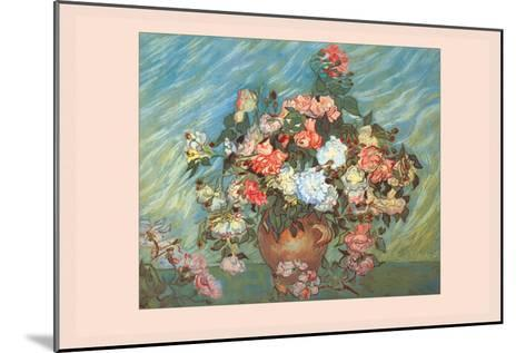 Pink and White Roses-Vincent van Gogh-Mounted Art Print
