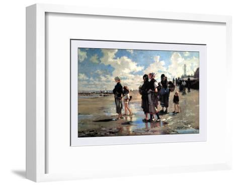Oyster Gatherers of Cancale-John Singer Sargent-Framed Art Print