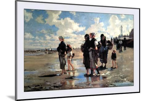 Oyster Gatherers of Cancale-John Singer Sargent-Mounted Art Print