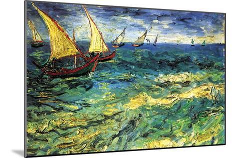 Seascape with Sailboats-Vincent van Gogh-Mounted Art Print