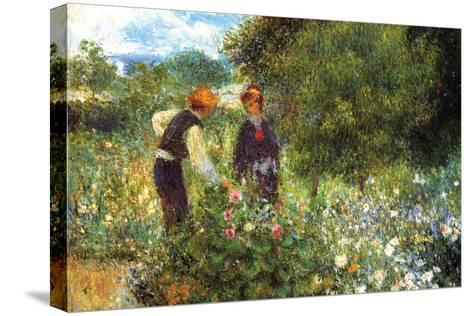 Picking Flowers-Pierre-Auguste Renoir-Stretched Canvas Print