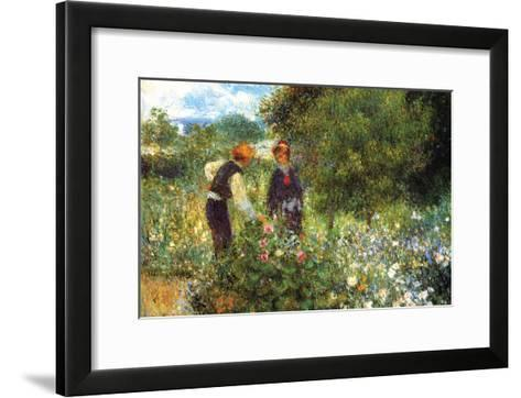 Picking Flowers-Pierre-Auguste Renoir-Framed Art Print