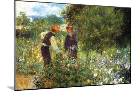 Picking Flowers-Pierre-Auguste Renoir-Mounted Art Print