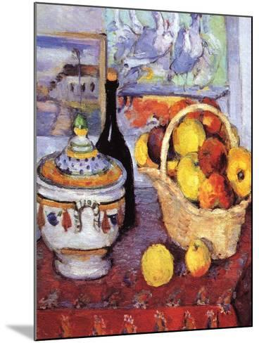 Apples Bottle and Tureen-Paul C?zanne-Mounted Art Print