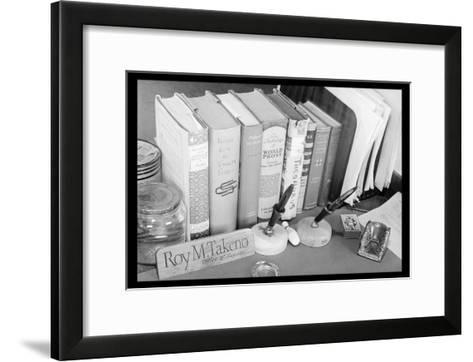 Roy Takeno's Desk-Ansel Adams-Framed Art Print