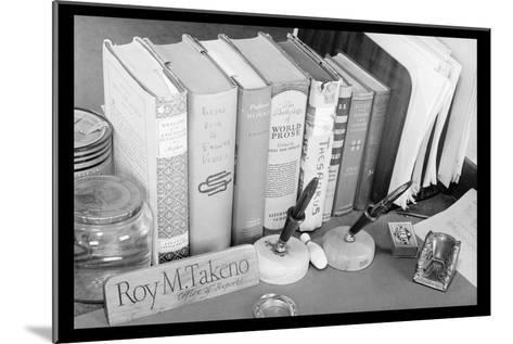 Roy Takeno's Desk-Ansel Adams-Mounted Art Print