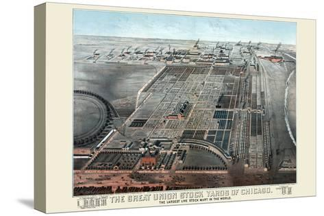 Great Union Stockyards of Chicago-Charles Rascher-Stretched Canvas Print
