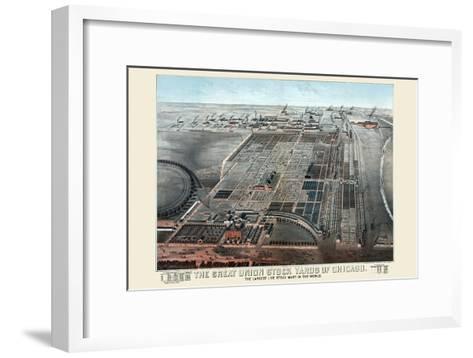 Great Union Stockyards of Chicago-Charles Rascher-Framed Art Print