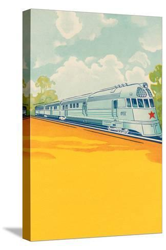 Red Star Bullet Train--Stretched Canvas Print