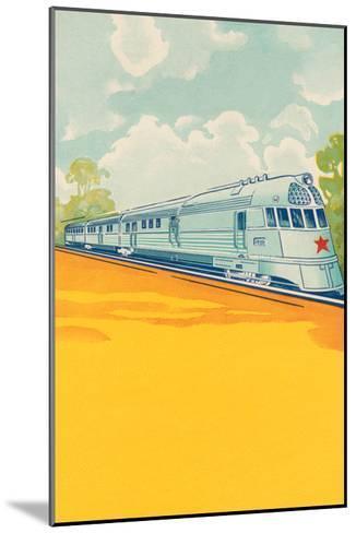 Red Star Bullet Train--Mounted Art Print
