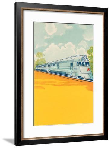 Red Star Bullet Train--Framed Art Print