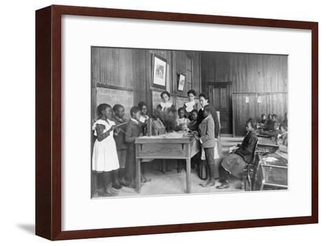 Thanksgiving Day Lesson at Whittier--Framed Art Print