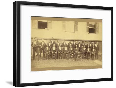 African American Baseball Team, Danbury, Connecticut--Framed Art Print
