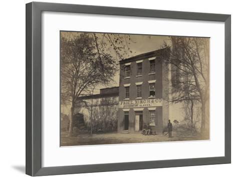 "Front of ""Slave Pen,"" Alexandria, Va.--Framed Art Print"