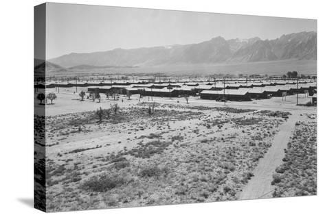 Manzanar from Guard Tower, Summer Heat-Ansel Adams-Stretched Canvas Print