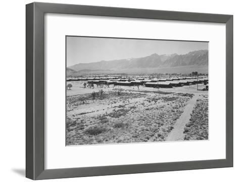 Manzanar from Guard Tower, Summer Heat-Ansel Adams-Framed Art Print