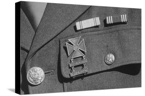 Corporal Jimmie Shohara's Ribbons-Ansel Adams-Stretched Canvas Print