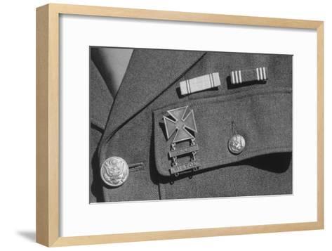 Corporal Jimmie Shohara's Ribbons-Ansel Adams-Framed Art Print