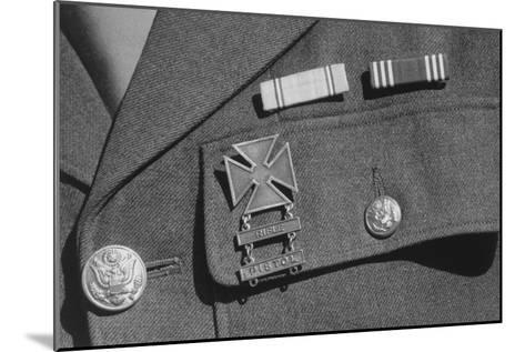 Corporal Jimmie Shohara's Ribbons-Ansel Adams-Mounted Art Print