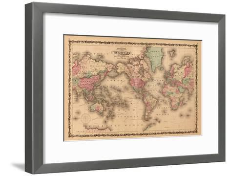 World Map-A^J^ Johnson-Framed Art Print