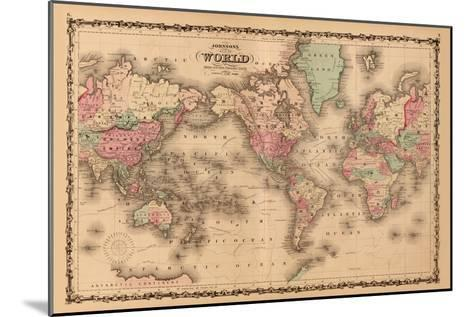 World Map-A^J^ Johnson-Mounted Art Print
