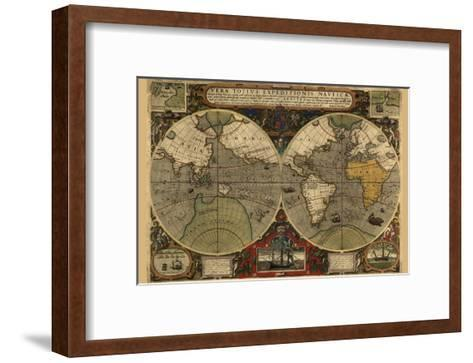 Vera Totius Expeditionis Nautica (World Map)-Abraham Ortelius-Framed Art Print
