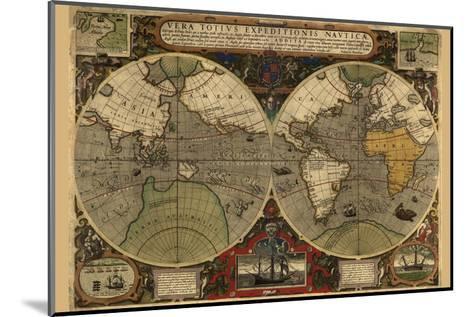 Vera Totius Expeditionis Nautica (World Map)-Abraham Ortelius-Mounted Art Print