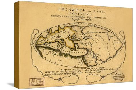 Dionysius in the World Traveled by the Greeks- Bertius-Stretched Canvas Print