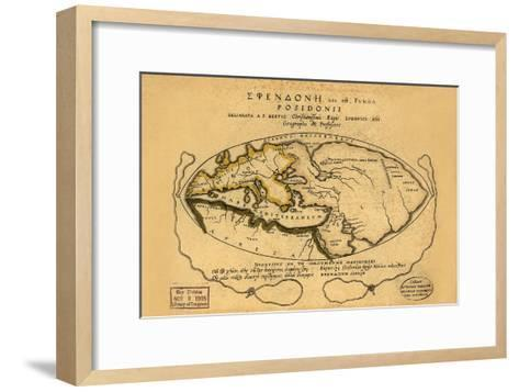 Dionysius in the World Traveled by the Greeks- Bertius-Framed Art Print