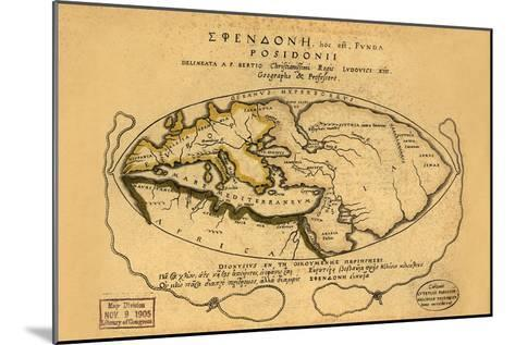 Dionysius in the World Traveled by the Greeks- Bertius-Mounted Art Print