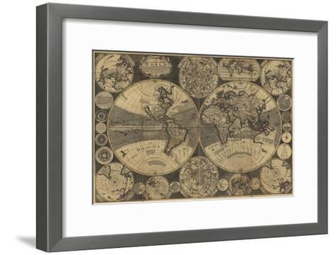 World Map with Planets-W. Godson-Framed Art Print