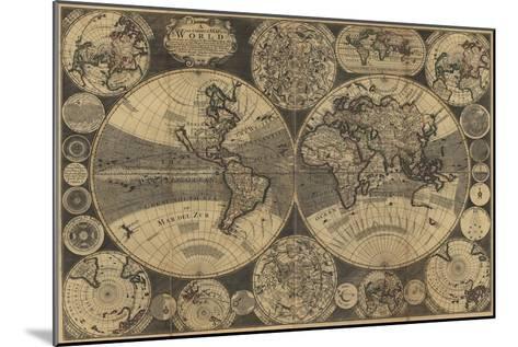 World Map with Planets-W. Godson-Mounted Art Print