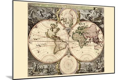 World Map-Nicolao Visscher-Mounted Art Print
