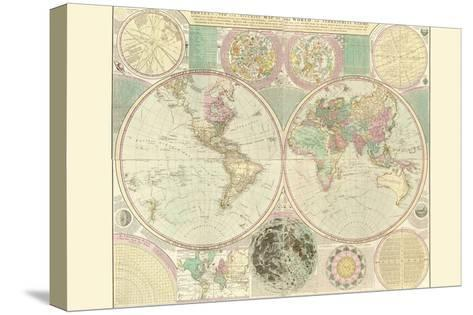World Map-Carington Bowles-Stretched Canvas Print
