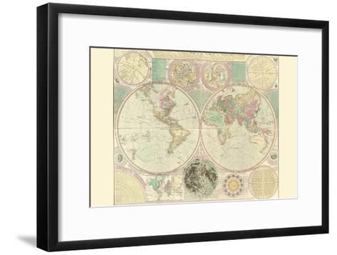 World Map-Carington Bowles-Framed Art Print
