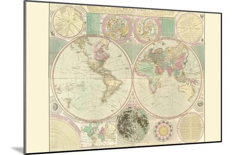 World Map-Carington Bowles-Mounted Art Print