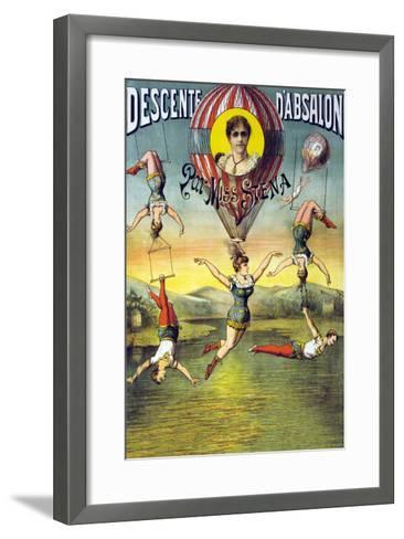 French Balloon Circus Poster--Framed Art Print