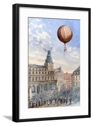 French Balloon Lift Off--Framed Art Print