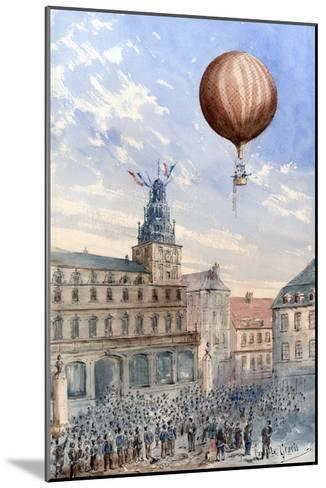 French Balloon Lift Off--Mounted Art Print