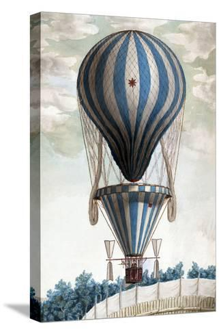 Italian Balloon Ascension--Stretched Canvas Print