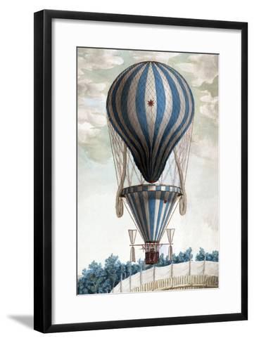 Italian Balloon Ascension--Framed Art Print