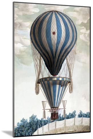 Italian Balloon Ascension--Mounted Art Print